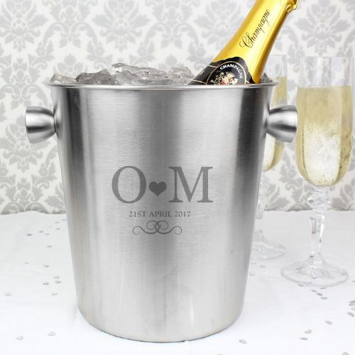 Monogram Stainless Steel Ice Bucket